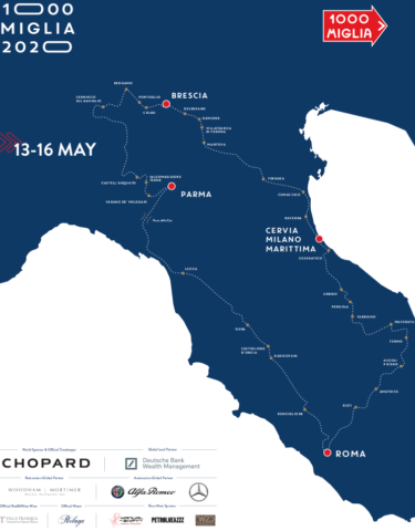Mille Miglia 2020 Streckenverlauf