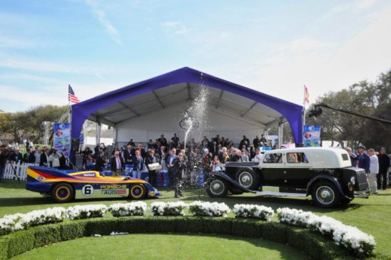 2020 Amelia Island Concours d'Elegance Best in Show winners Duesenberg und Porsche